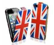 Кожен калъф за Iphone 5, Iphone 5S England Flag