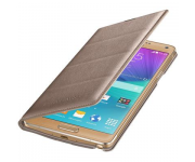 Оригинален калъф за Samsung Galaxy Note 4 N910F Official Wallet cover gold